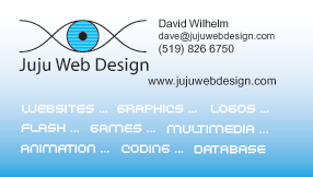 Business card for Juju Web Design